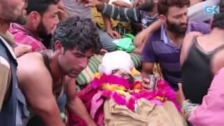 Five rounds of funeral prayers for slain militant Jehangir Khandey in Keller