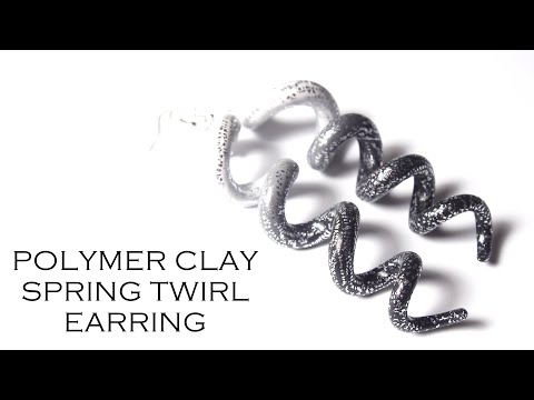 Polymer Clay Ombre Spring Twirl Earrings Tutorial thumbnail