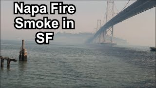 Napa Fire smoke in San Francisco: October 10, 2017