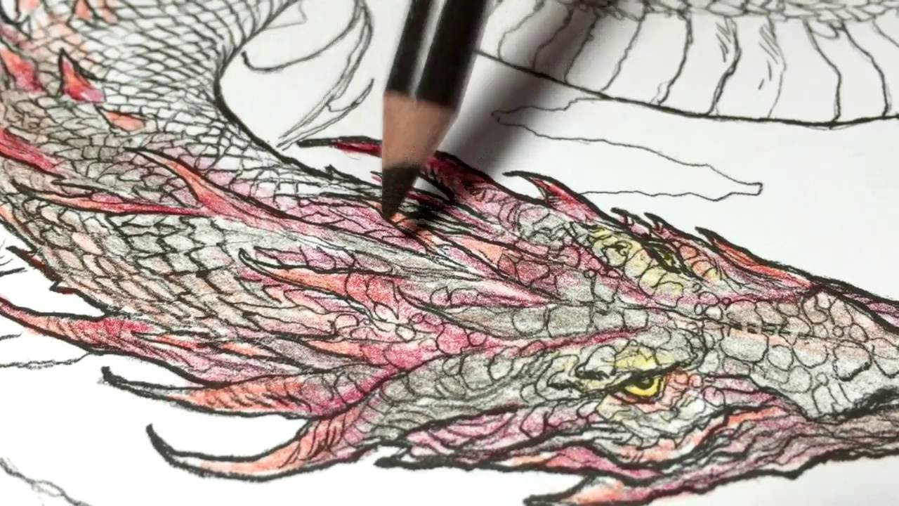 learn to color by watching me color game of thrones dragon no 1 a