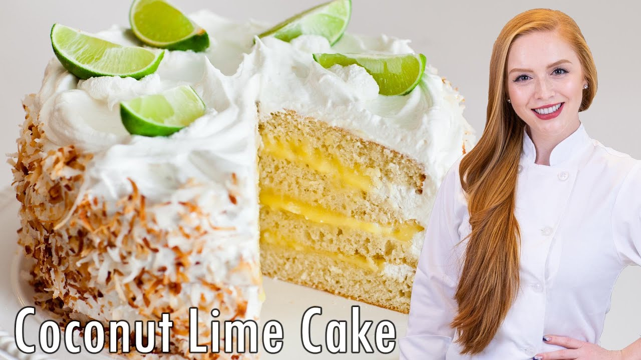 Coconut Lime Cake with Meringue Frosting - YouTube