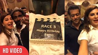 Remo D'Souza Celebrating Grand Birthday with Salman Khan and Team Race 3