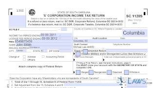 form sc1120s s corporation income tax return