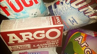 ASMR🔥:)Laundry Powder Dry Mix(🔥Argo Starch)👕👖🕶💙❤🖤