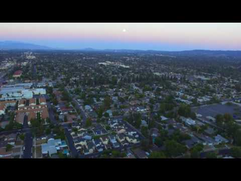Drone Flight - Winnetka, California, United States - Sunset over House