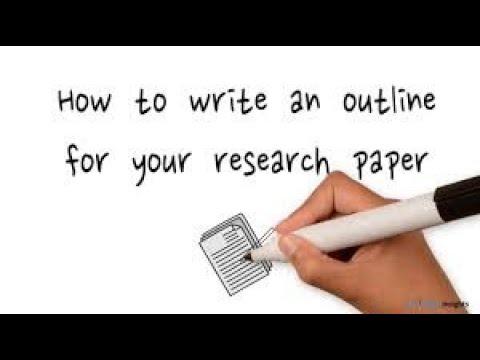 شرح باللغة العربية How to write an outline for your research paper
