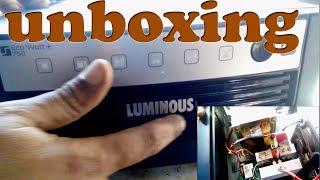 UNBOXING LUMINOUS ECO watt+ 750 ||LUMINOUS INVERTER ECO WATT+750 UNBOXING IN HINDI