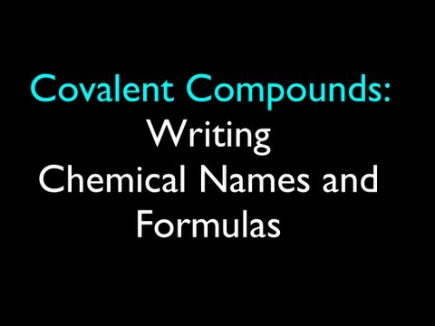 How to Write a Chemical Compound Formula