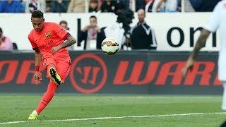 Neymar jr amazing free kick goal against sevilla