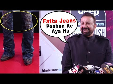 Sanjay Dutt's Funny Moments With Media Reporter At HT Style Awards 2018