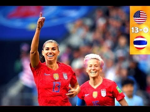 USA vs Thailand 13-0 All Goals & Highlights _ 2019 WOMENS WORLD CUP