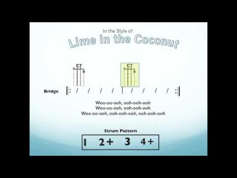 Lime In The Coconut Ukulele Playalong YouTube Simple Strumming Pattern For House Of Gold