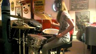 "15 Year Old Girl Drummer ""Down With The Sickness"" by Disturbed (Drum Cover)"