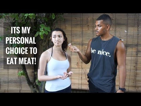 VEGAN VS MEAT EATER [STREET DEBATE]