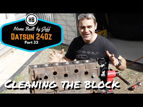 Cleaning the engine block - Home Built Datsun 240z part 32