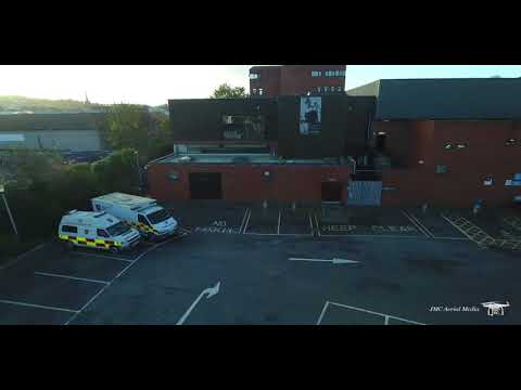 Old Newry Sports Centre And The New Leisure Centre Drone Aerial View