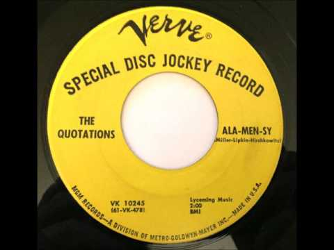 The Quotations ‎– Ala-Men-Sy 1961 Verve  ‎– VK 10245