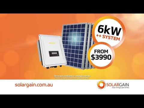 Solargain Supersize 6kW++ system - Perth only
