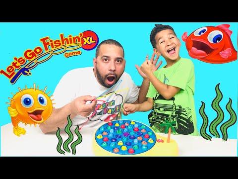 LET'S GO FISHING XL GAME By Pressman!