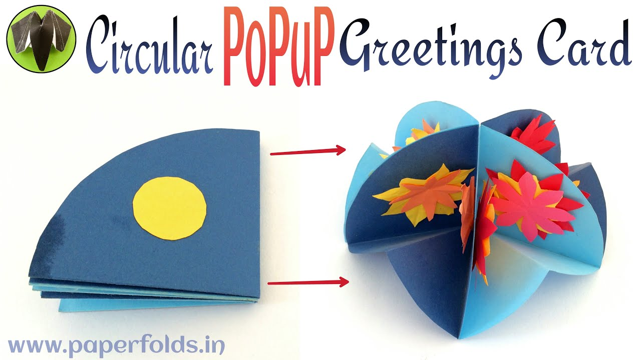 How to make a circular popup greeting card for birthday and how to make a circular popup greeting card for birthday and special occasions paper craft tutorial youtube m4hsunfo