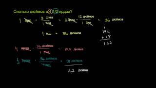Преобразование единиц измерения выраженных в дробях