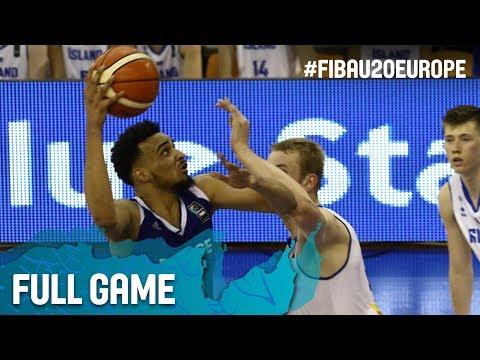 Iceland v France - Full Game - FIBA U20 European Championship 2017