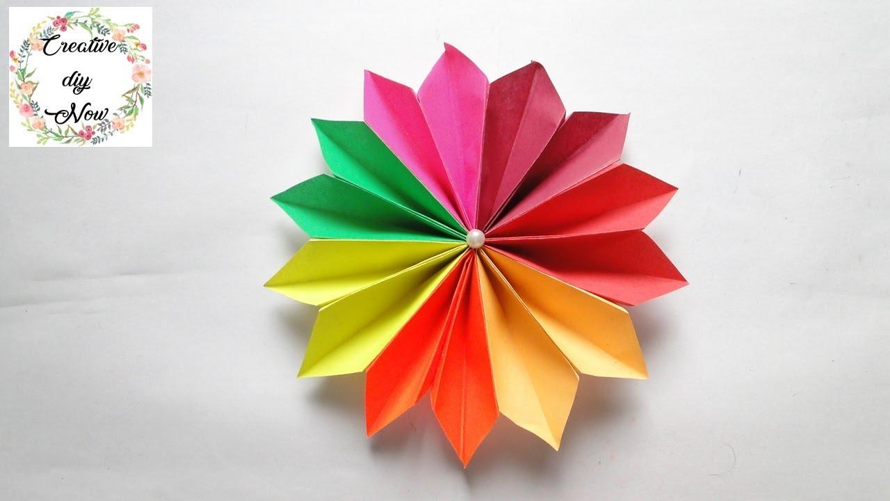 Diy Accordion Paper Flower Accordion Paper Folding Youtube