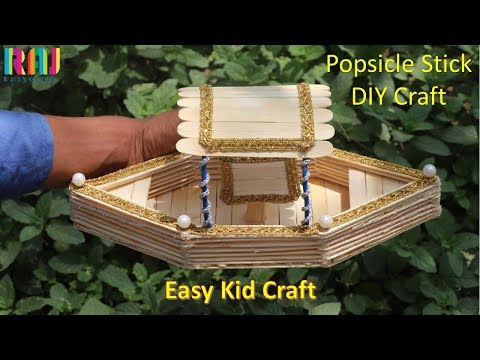 Easy kid craft || Popsicle stick boat making || Craft ideas # raj easy craft