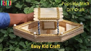 Easy kid craft || Popsicle stick boat making || Craft ideas # raj easy craft