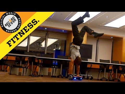 World's Longest Handstand On A Hoverboard!