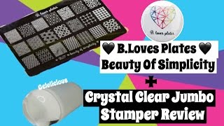 b loves plates   beauty of simplicity stamping plate crystal clear jumbo stamper review