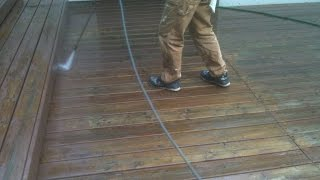 Cedar Deck Restoration/ Demonstration, Cleaning,prep,staining