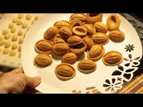 Как приготовить печенье  Орешки / Песочное тесто с кокосовым молоком / Мультипекарь REDMOND