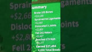 (ROBLOX) BREAKING WORLD RECORD FOR MOST BONES BROKEN 😯