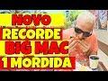 NOVO RECORDE Comendo Promoção do BIG MAC em 1 MORDIDA | #EuHenriqueLeão