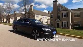 Audi B9 S4 with AWE Exhaust and APR stage I tuned, Rev and acceleration
