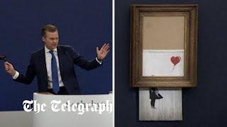 Banksy's part-shredded artwork sells for £18.6m in record for artist
