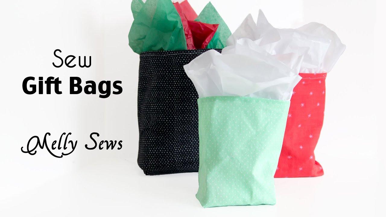 How to Sew a Gift Bag - Make Reusable Gift Bags - YouTube
