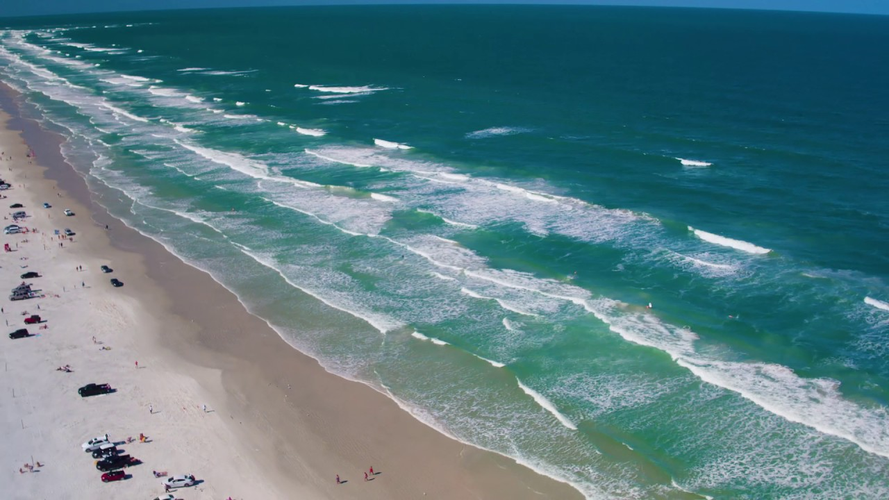 Florida Travel Fly Above New Smyrna Beach