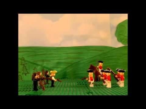The battles of Lexington and Concord out of Legos