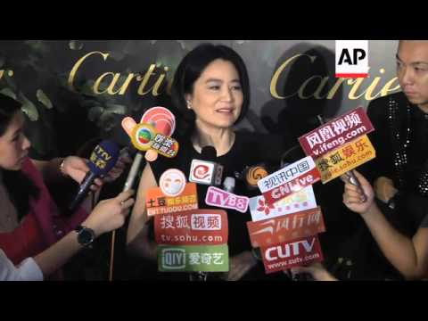 Taiwanese screen icon Brigitte Lin makes rare appearance at jewelry event