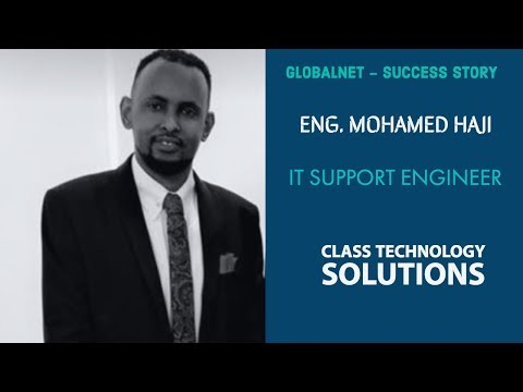 Eng. Mohamed Haji: From Bus Driver to IT Engineer (GlobalNet Success Story)