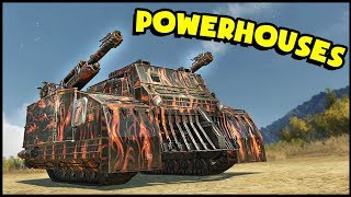 Crossout - POWERHOUSES! Playing With Dual Monsters! (Crossout Gameplay)