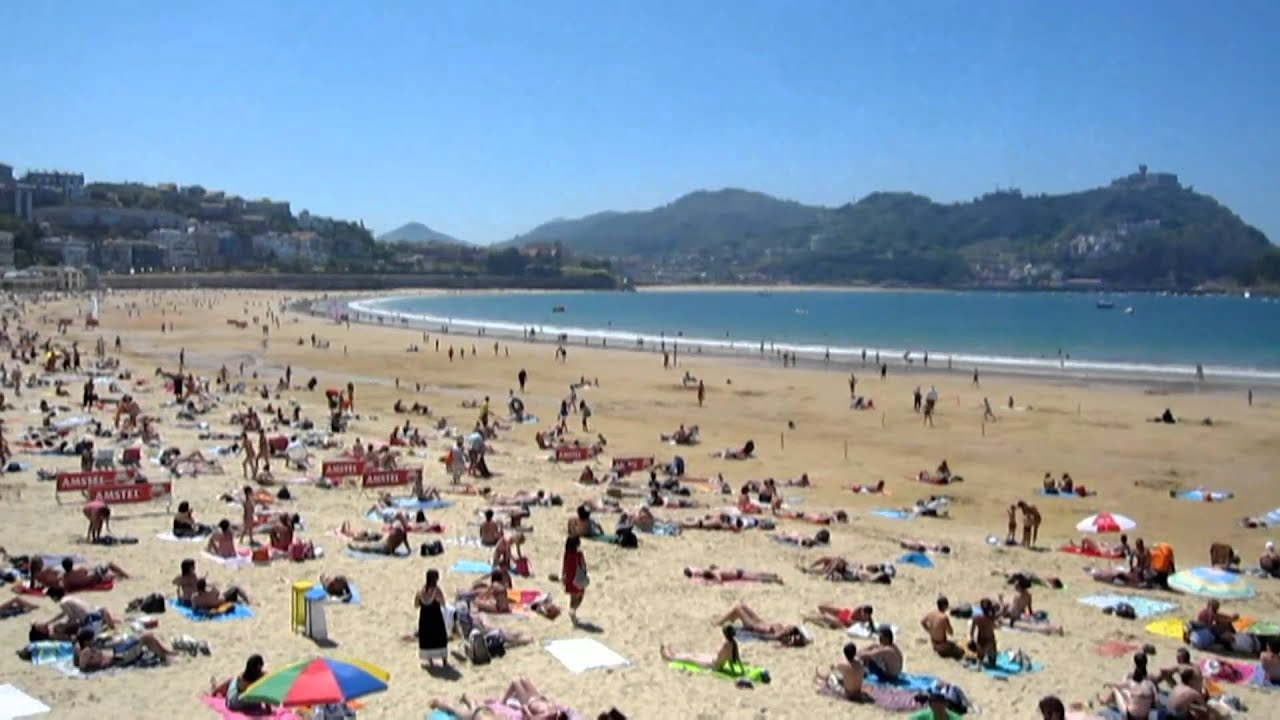 The Beach at San Sebastian, Spain - YouTube