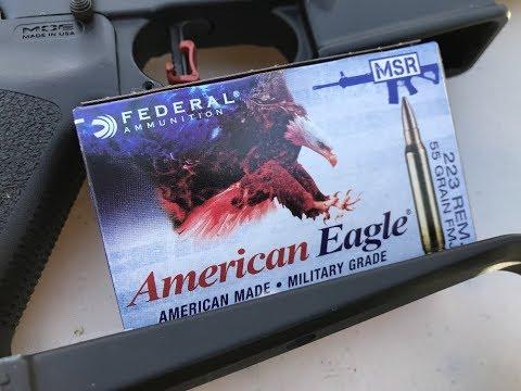 .223 Remington, 55gr FMJ, American Eagle (AE223J)