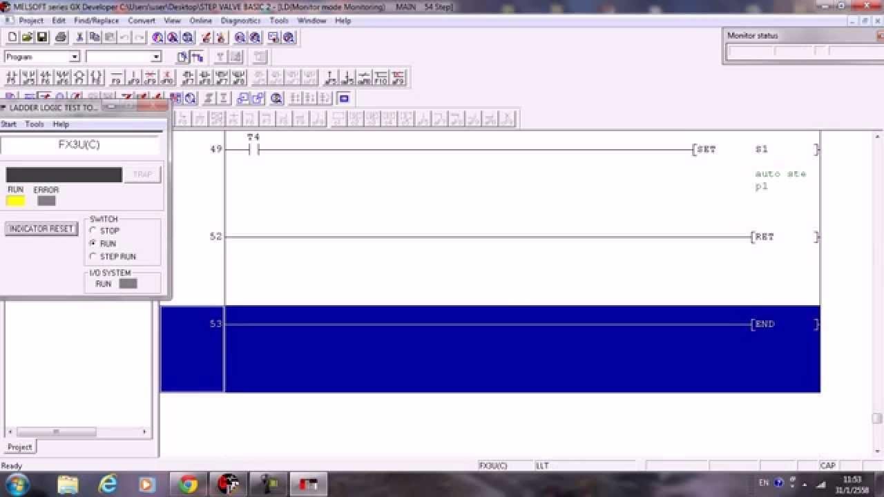 Plc Lader Stl Programming By Gx Developer Mitsubishi