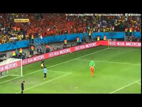 Netherland vs Costa Rica  July 2014 Penalties 4-3 | Tim Krul saves