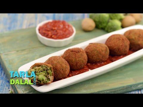 Broccoli and Potato Balls by Tarla Dalal