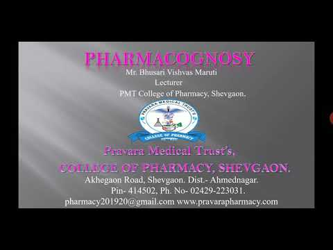 PGY | Drug & Pharmaceutical Aids of Natural Origin