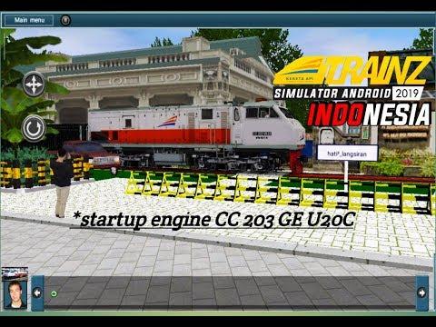 Melihat, mesin lokomotif di hidupkan di BALAY YASA versi trainz simulator - 동영상
